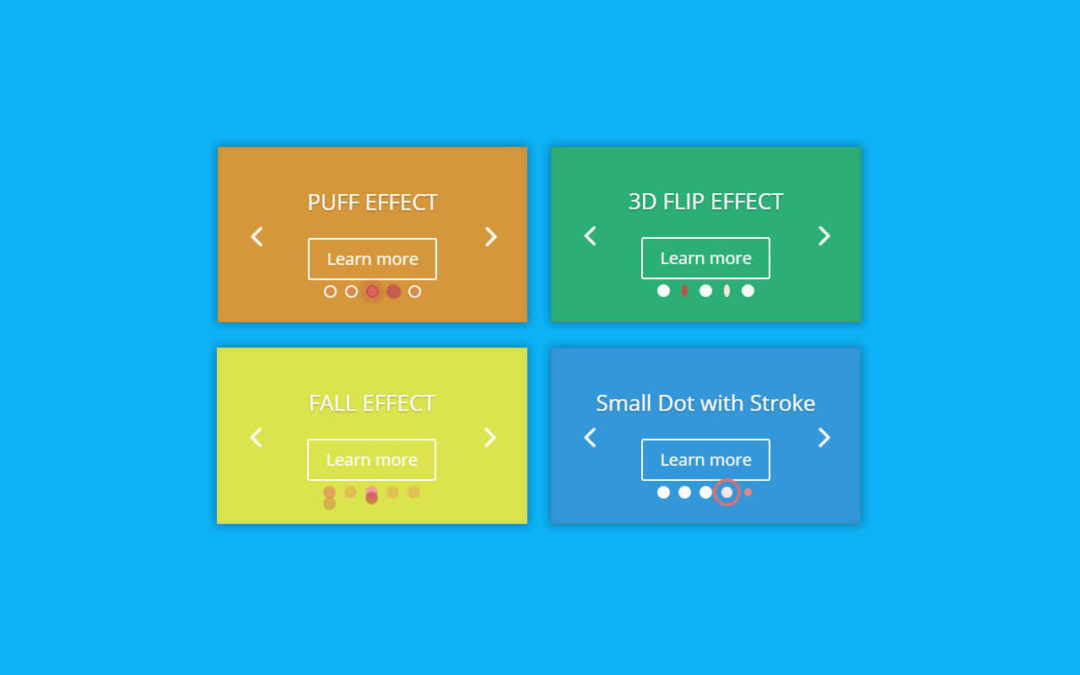 4 Effects for Divi Slider Module Dot Navigation