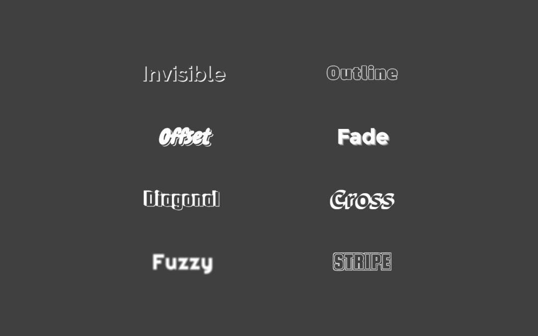 8 CSS Text Shadows for Divi Text Module