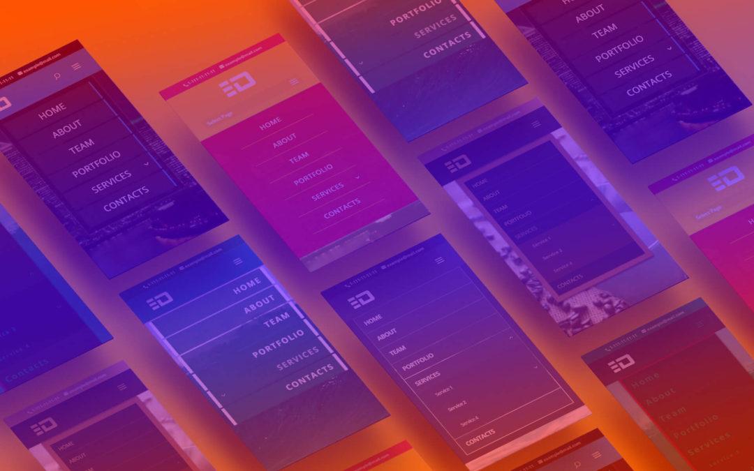 A Sneak Peek at Mobile Menu Customizer Plugin for Divi