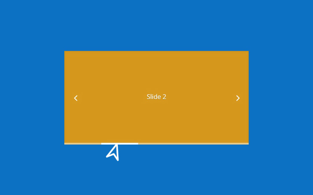 Simple Line-style Slide Controllers for Divi Slider Module
