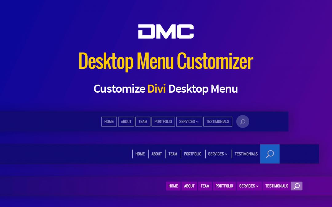 Divi Desktop Menu Customizer