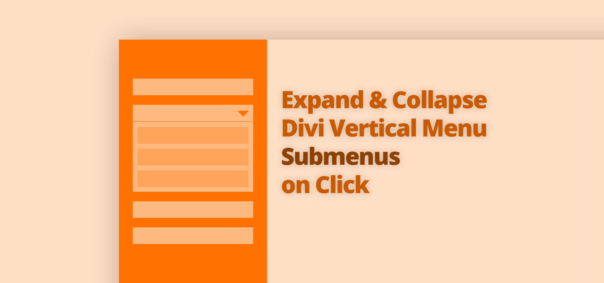 Expand and Collapse Divi Vertical Menu Submenus on Click