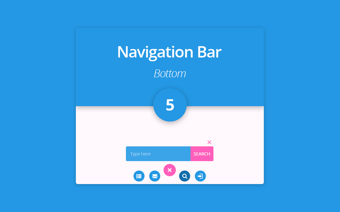 Bottom Navigation Bar 5