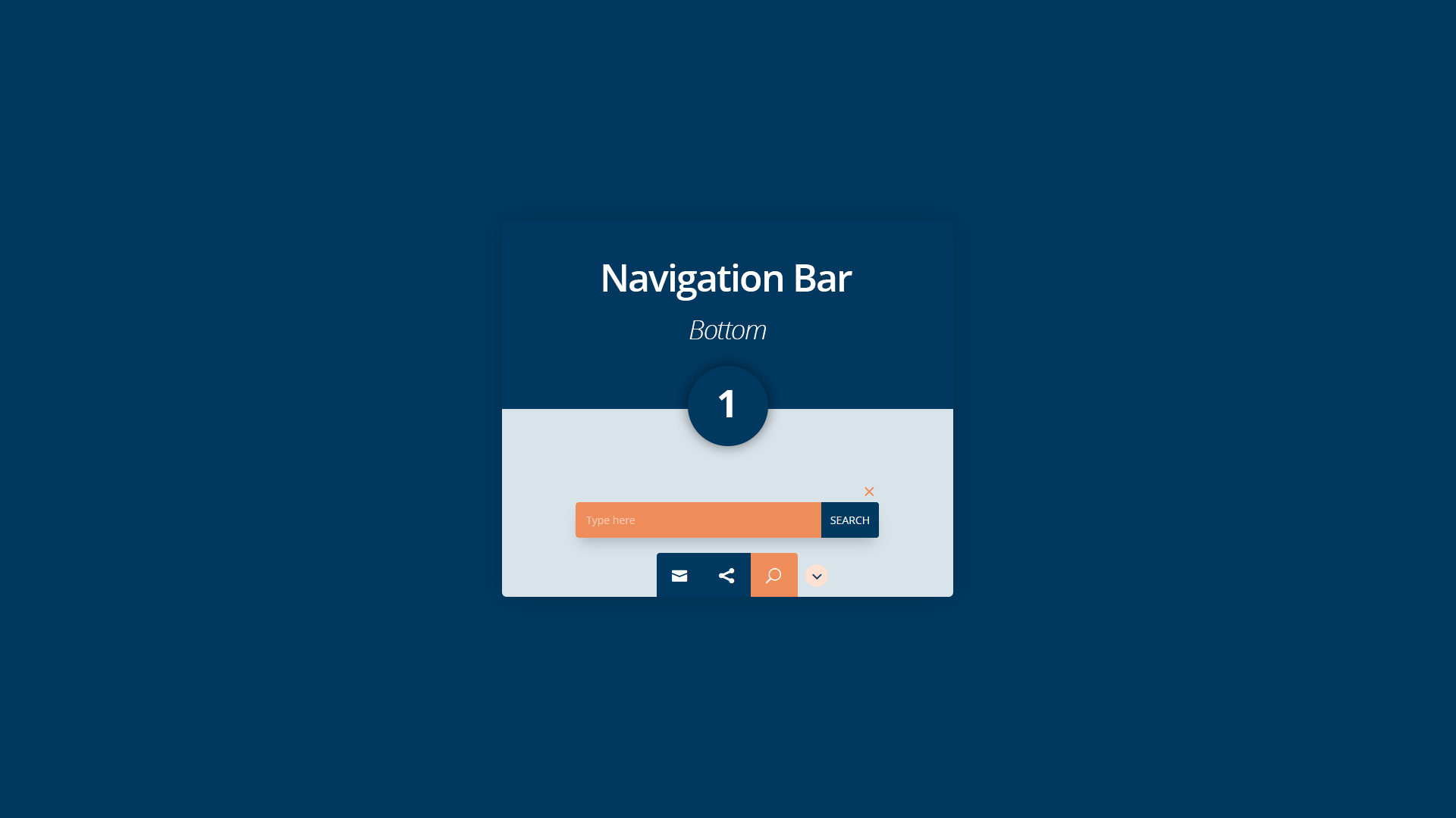New Divi Section Layout: The Bottom Navigation Bar 1