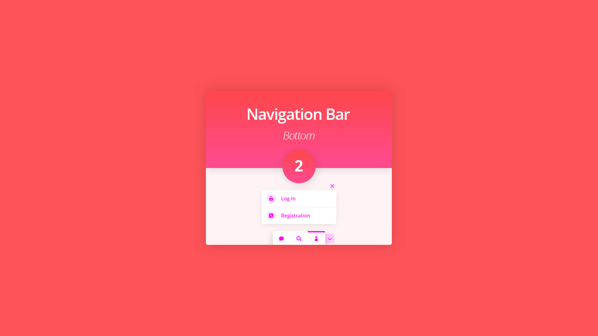 New Divi Section Layout: The Bottom Navigation Bar 2
