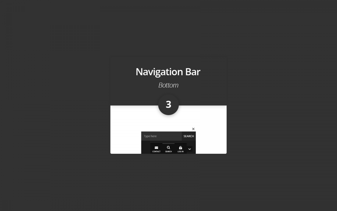 New Divi Section Layout: The Bottom Navigation Bar 3