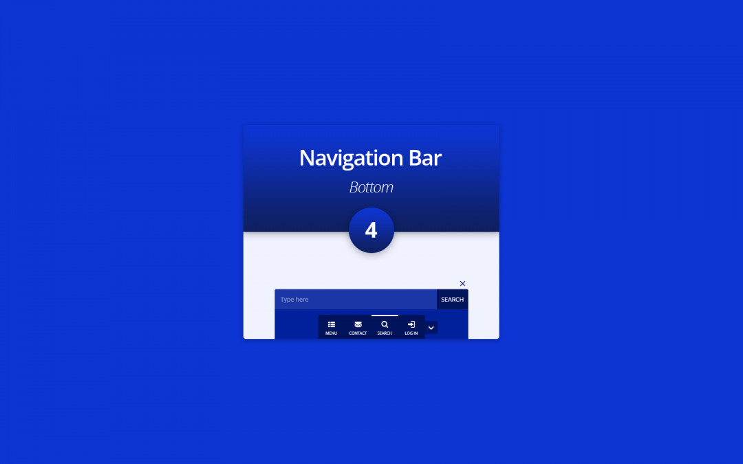 New Divi Section Layout: The Bottom Navigation Bar 4
