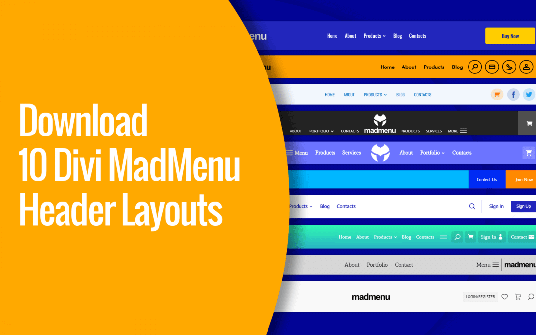 10 Divi MadMenu Header Layouts Available For Download