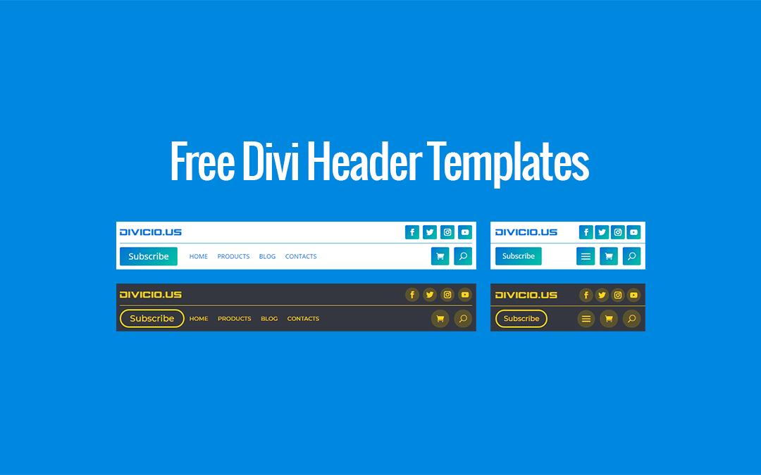 Free Download: Divi Header Templates