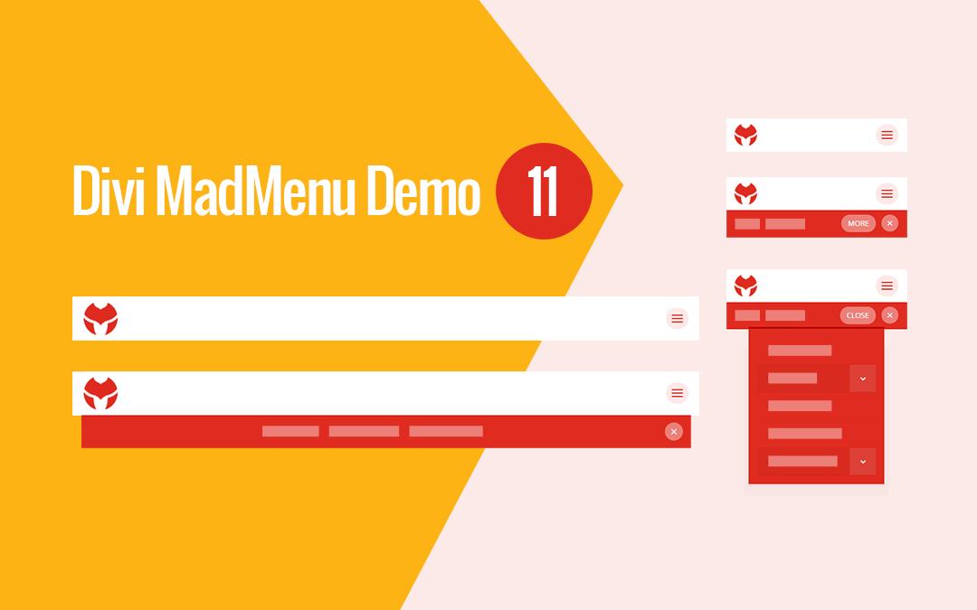 Divi MadMenu Header Template #11: Horizontal Slide-In Menu