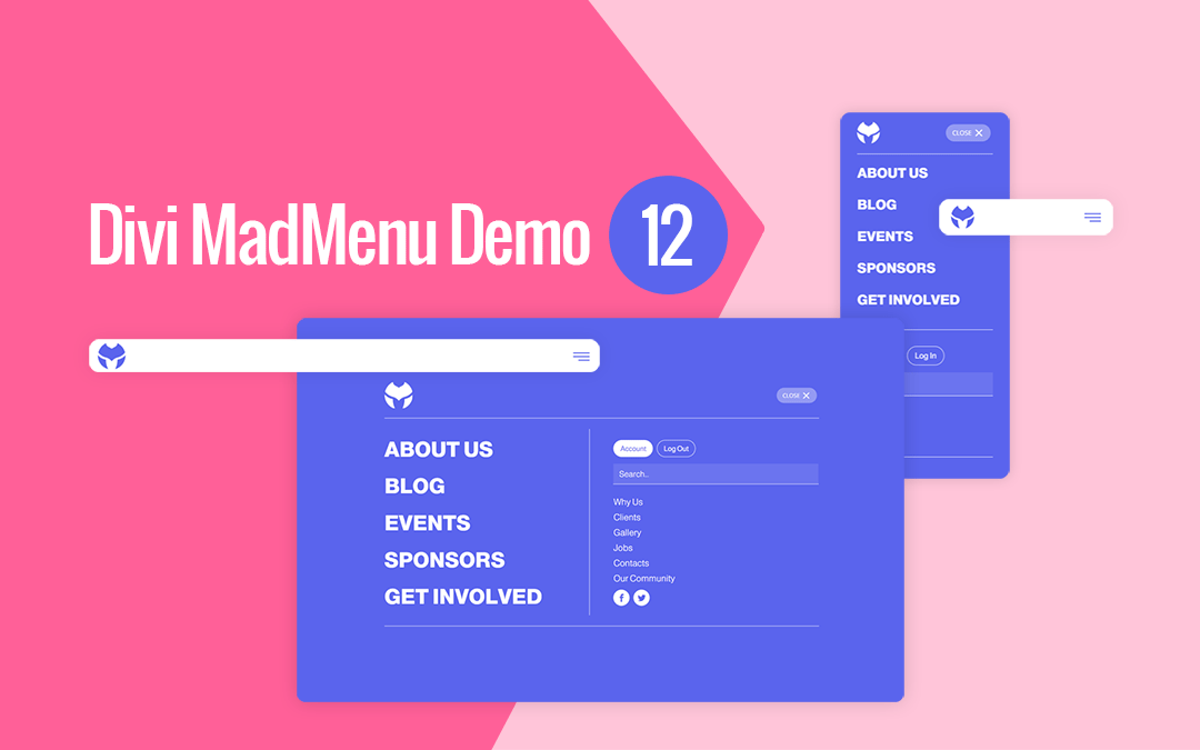 Divi MadMenu Header Template #12: Full Screen Menu